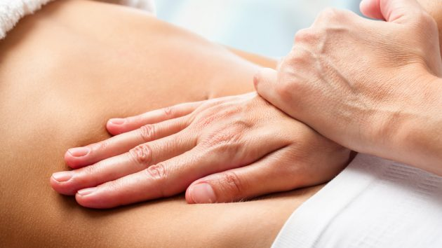 image of an Osteopathic belly massage